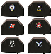 """Choose Your Military Branch 60"""" or 72"""" Heavy Duty Vinyl Barbecue BBQ Grill Cover"""