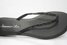 Women's Summer Rio Black sandal with sequins and beads