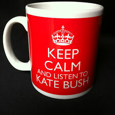 KEEP CALM AND LISTEN TO KATE BUSH GIFT MUG CARRY ON COOL BRITANNIA RETRO CUP