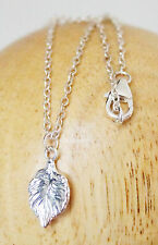 Beautiful! Delicate Leaf Sterling Silver 925 Necklace Minimalist