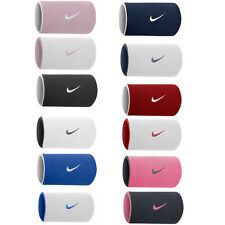 NIKE REVERSIBLE SWOOSH DOUBLEWIDE WRISTBANDS TENNIS,SQUASH,BADMINTON,SWEAT BANDS