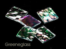 Clear Hammered Iridized Mosaic Glass Tile * Cut to Order Shapes * Large Package