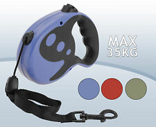 Retractable/Extendable Dog Lead - 8M up to 35 KGS - 3 colourways