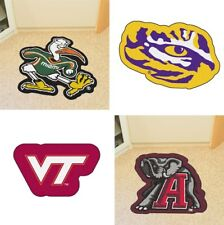Choose Your NCAA College Team Mascot Decorative Logo Cut Area Rug Floor Mat