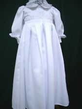 Infant Baby Girls Christening Baptism Gown & Bonnet Dresses - Sizes 000 00 0