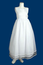 New White Communion Confirmation Formal Dresses for Girls |Size 2 4 6 8 10|
