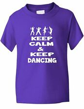 Keep Calm and Keep Dancing Boys Girls T-Shirt Gift  Age 1-13