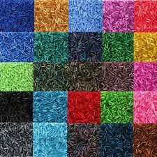 25g 6mm Czech Bugle Beads Silver Lined Lustre - Buy One Get One 1000 Beads