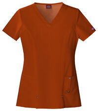 Cinnamon Dickies Junior Fit  Xtreme Stretch V Neck  Scrub Top 82851 CINZ