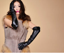 New Women Opera Dress Party Costume Faux Leather PU Elbow 50CM Sex Long Gloves