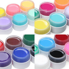New 6 Colours Solid Pure UV Gel Nail Art Tips Builder Gel Set Extension Manicure