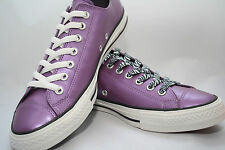 WOMEN'S Converse Chuck Taylor Metallic Purple Lo Top zebra and white laces