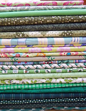 100% cotton quilting fabrics in GREEN : assorted designs precut & cut to order