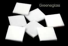 White Opal Glass Tile * Cut to Order Shapes * Medium Package