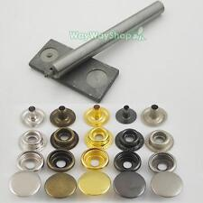 """Leather craft Rapid Rivet Button METAL Snaps Fasteners Tool 12mm 1/2"""" 20 50 100"""