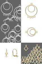 Bead Earring Findings Hoops Loops Links Drops Dangles Charms Earwires You Pick