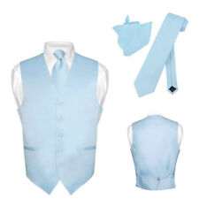 Men's Dress Vest NeckTie BABY BLUE Neck Tie Set for Suit or Tuxedo