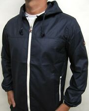 Fila Vintage 80s Micky Hooded Kagoule Jacket in Navy S,M,L,XL,2XL,3XL