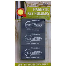 3 6 9 12 Large Magnetic Key Hide Holder Locker Home Office Safe Box Car Spare