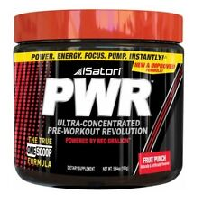 Isatori PWR Pre-Workout Revolution Energy Focus Pump RED DRALION 30 Servings