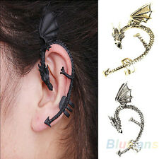 Stylish Special Retro Gothic Rock Punk Twine Dragon Shape Ear Cuff Earring BE3A