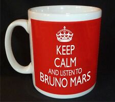KEEP CALM AND LISTEN TO BRUNO MARS  MUG CARRY ON RETRO GIFT CUP