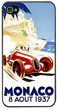 Monaco Grand Prix 1937 Cover/Case For iPhone 4/4S. Vintage Poster Gift