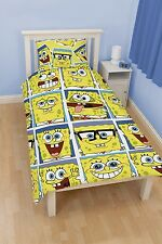 100% OFFICIAL SPONGEBOB DUVET COVER SET SINGLE DOUBLE OR CURTAINS