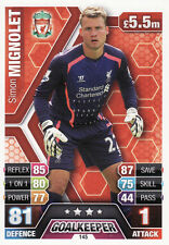 Match Attax 13/14 Liverpool & Manchester City Cards Pick Your Own From List
