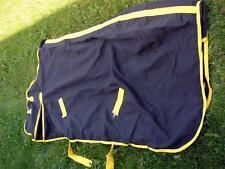 Horse Cotton Canvas w/lining Fall Show Sheet Black w/ Yellow trim 76 78 80 82""