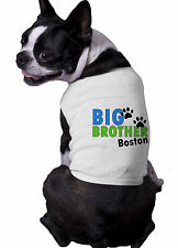 Big Brother Paws With personalized doggy name Announcement Dog Shirt t-shirt