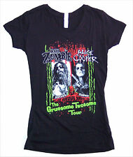 "ALICE COOPER ROB ZOMBIE ""GRUESOME TWOSOME"" TOUR BLK BABY DOLL GIRLS T-SHIRT NEW"