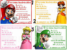 CARTE INVITATION ANNIVERSAIRE MARIO BROS