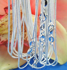 """In Bulk 10/20/50/100PCS 2MM Silver Snake chain necklaces Jewelry Necklace 16-24"""""""