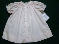 HAND~EMBROIDERED PREEMIE SMOCKED GIRLS PINK OR BLUE DAYGOWN W/LACE~NWT'S~reborn