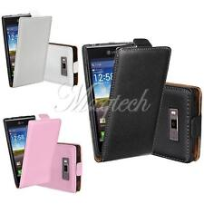 Flip PU Leather Magnetic Pouch Case Cover Hard Shell For LG Optimus L7 P700 P705