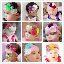 Pretty Babies Toddlers Elastic Headband Flower Hair Decoration Hairband