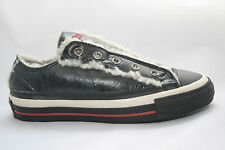 Converse Chuck Taylor All Star Black Leather Warm Shearling Lined Slip