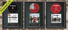 ONE DIRECTION X 3 FRAMED Signed CD COVER MOUNTED A4 Autograph Print