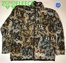 Fleece Winter Wolf Wolves Face Pack Camouflage Jacket Coat Sweater Cloak Thermal