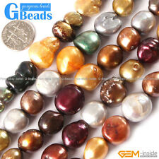 """Freeform Multi-color Freshwater Pearl Beads Jewelry Making Gemstone Beads 15"""""""
