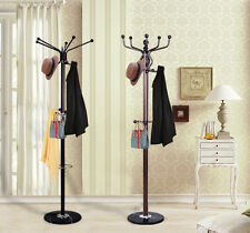 Modern Coat Hat Rack Stand Umbrella Holder Hook Metal Base Rotating Top