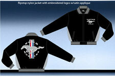 Ford Mustang Jacket Light Weight Ripstop Nylon Zip Jacket Adult