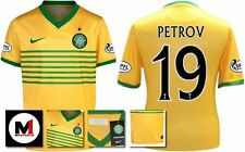 *13 / 14 - NIKE ; CELTIC AWAY SHIRT SS + ARM PATCHES / PETROV 19 = KIDS SIZE*