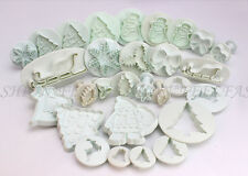 12 Series Xmas Fondant Cake Icing Decorating Tools Cupcake Cutters Mould Baking