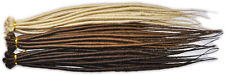 DREADLOCKS SINGLE ENDED HAIR EXTENSIONS BLONDE OR BROWN 50cm TANGLE FREE