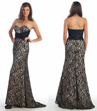 BLACK/NUDE PAGEANT PROM GALA COCKTAIL DRESSE HOMECOMING EVENING FORMAL GOWN 4-20