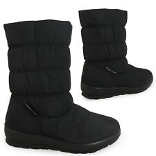 WOMENS LADIES MID-CALF FLAT WARM COMFY COMFORT ZIP WINTER SNOW BOOTS SHOES SIZE