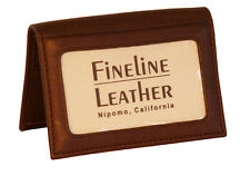 FINELINE LEATHER Business Card Wallet includes Personalized Imprinting 109