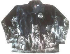 Evening Wolf Wolves  Plush Fleece Jacket  Sm - 4X NEW